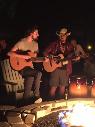 Brendan Mayer & Donny Brewer by fire