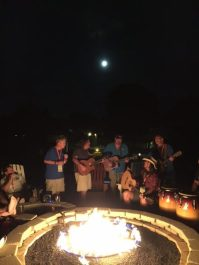 Charlie Imes Dan Sullivan Donny Brewer by fire in moonlight